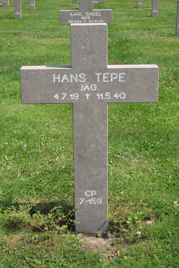Hans Tepe hans tepe zuidfront mei 1940