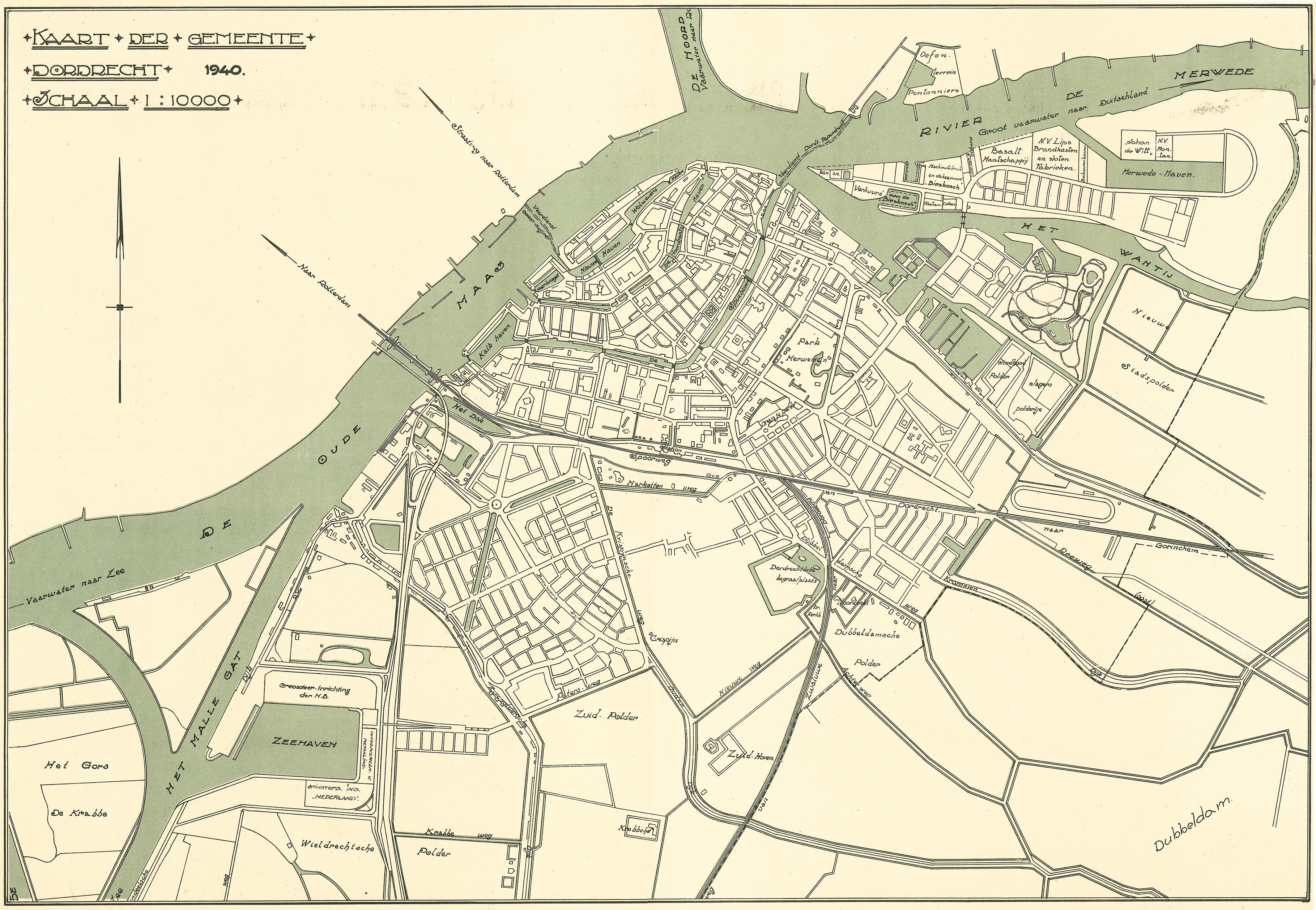 Dordrecht 1e Fase Zuidfront Holland Mei 1940